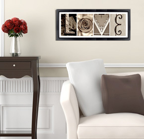$25.00 for a Customized Alphabet Art Print Plus the Word 'Love' from Imagine Letters ($70.00 Value)