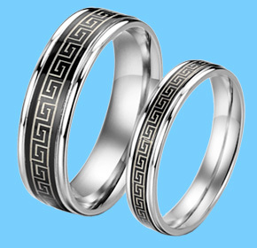 $32.00 for His and Hers Silver Rings  from Allure Couture Jewelry ($259.00 Value)