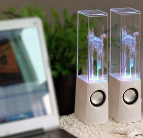 $44.00 for Two Dancing Water Fountain Speakers from Land of Promise Imports ($150.00 Value)