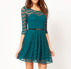 $27.00 for a Dakota Lace Dress in Your Choice of Colour from Jade and Juliet ($65.00 Value)