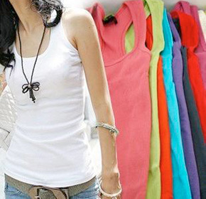 $34.00 for a 12 Pack of Assorted Colour Tank Tops from Land of Promise Imports ($120.00 Value)