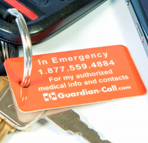 $22.60 for One Year of Emergency Medical ID Service from GuardianCall ($49.70 Value)