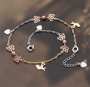 $26.00 for an 18k Plated Platinum Charm Bracelet or Anklet  from Allure Couture Jewelry ($135.00...
