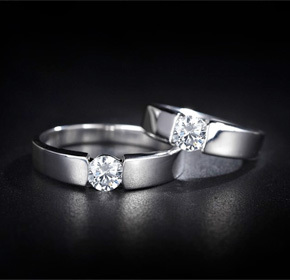 $39.00 for a Pair of 18k Plated Platinum Rings with Swarovski Elements Crystal from Allure...