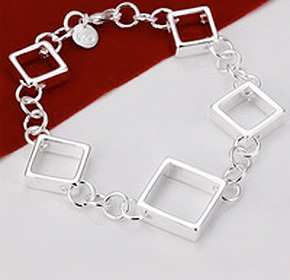 $25.00 for a Tiffany Inspired Square Silver Bracelet  from Allure Couture Jewelry ($119.00 Value)
