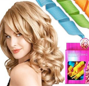 $14.00 for  18 Reusable Magic Leverage Rolling Hair Curlers from Pandacheer ($30.00 Value)