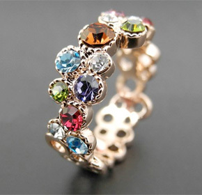 $32.00 for an 18k Plated Platinum Italian Pave Ring with Swarovski Elements Crystal from Allure...